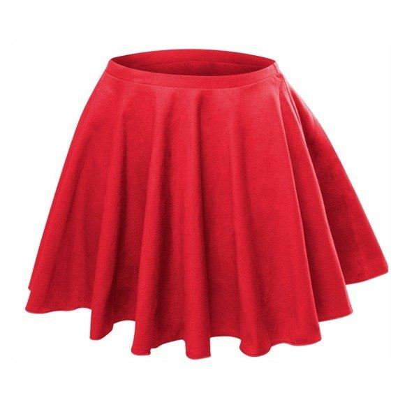 a64718f6 Rozkloszowana spódniczka z koła czerwony