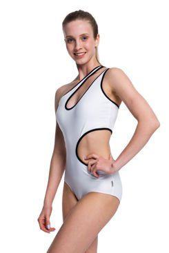 Body white outfit with black piping