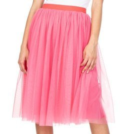 Tulle skirt with lining - white
