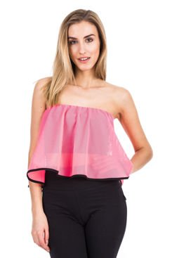 Women's top with a coral valance