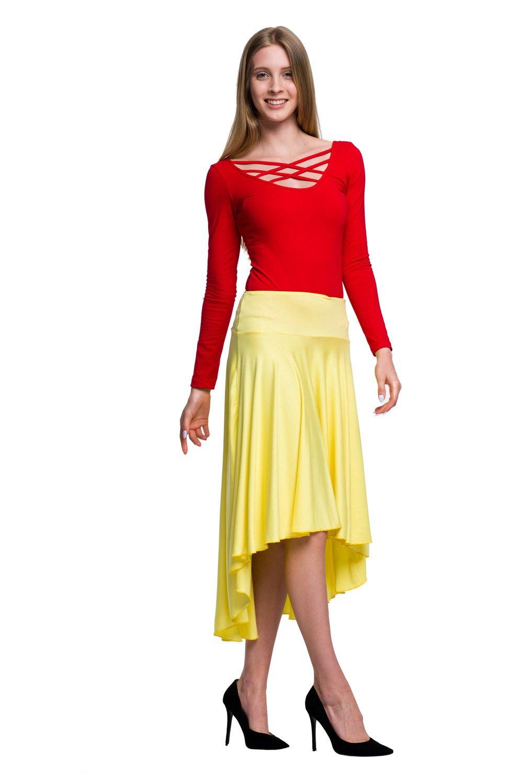 0a927d301a34bc Body damskie z długim rękawem sznurowane czerwony | Rennwear.com