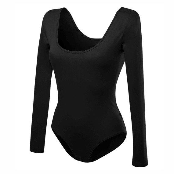 a921f89068fcb0 Body damskie z długim rękawem wyszczuplające czarny   Rennwear.com