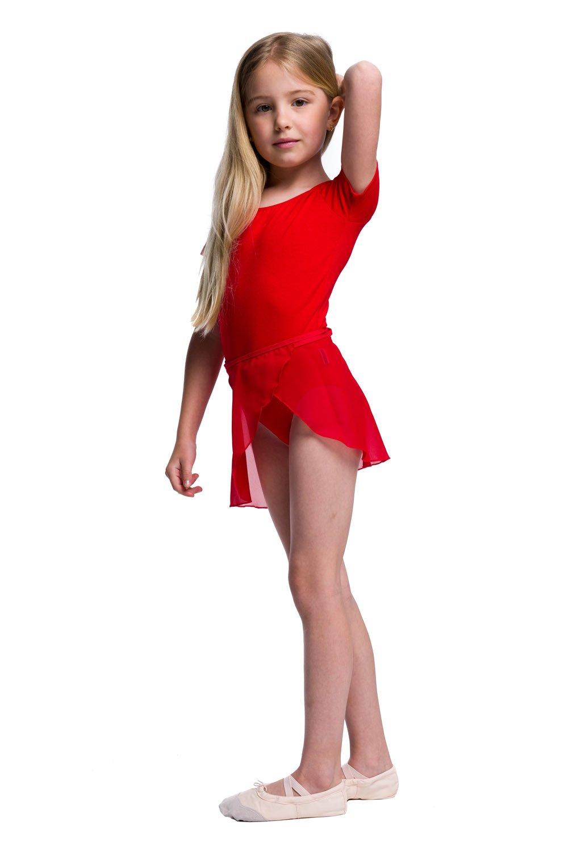 f6db1a9163dea3 Body treningowe gimnastyczne z krótkim rękawem B100K czerwony ...